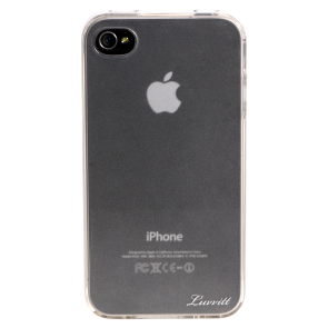 Luvvitt ICE Thermoplastic Soft Case for iPhone 4 & 4S - Transparent/Frost