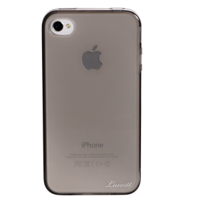 Luvvitt ICE Thermoplastic Soft Case for iPhone 4 & 4S - Transparent Black