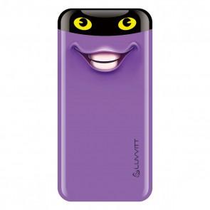 LUVVITT EMOJI Power Bank 6000 mAh Ultra Slim Portable Charger - Emoji Purple