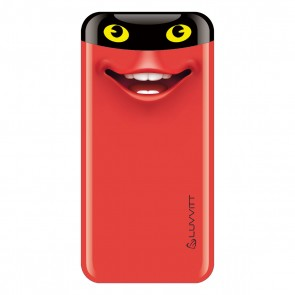 LUVVITT EMOJI Power Bank 6000 mAh Ultra Slim Portable Charger - Emoji Red