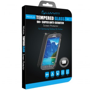 LUVVITT Tempered Glass Screen Protector for Galaxy S5 ACTIVE - Clear