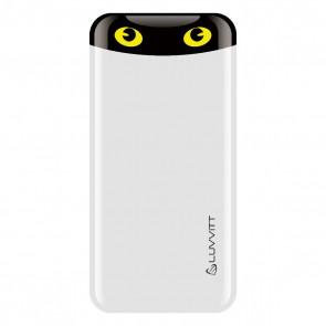 LUVVITT EMOJI Power Bank 6000 mAh Ultra Slim Portable Charger - White