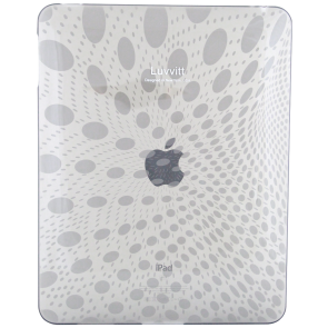 LUVVITT Candy Case - Limited Edition Clear TPU Case for Apple iPad 1 Clear