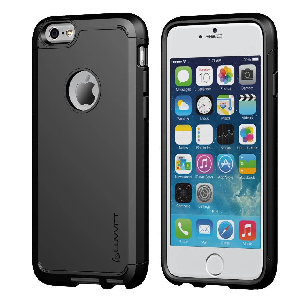 Image of iPhone 6s Plus Case, LUVVITT [Ultra Armor] Shock Absorbing Heavy Duty Dual Layer Tough Cover Case for iPhone 6/6s PLUS