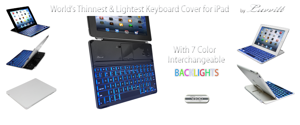 LUVVITT® Luvvitt® BACKLIT Ultrathin Keyboard Cover for the new iPad 4 / iPad 3 / iPad 2