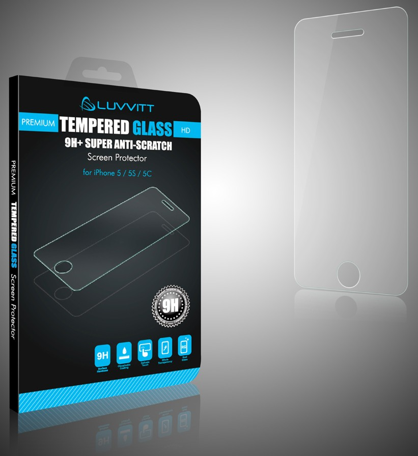 tempered glass screen protector iphone 5 luvvitt tempered glass screen protector for iphone 5 5s 2140
