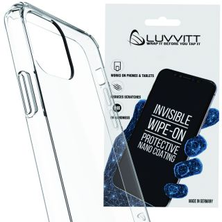 Luvvitt Clear View Case and Liquid Glass Screen Protector Bundle for iPhone 11 Pro 2019