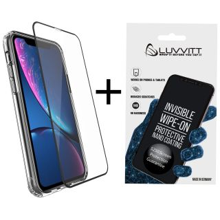 Luvvitt $250 Screen Protection Guarantee Liquid Glass + Tempered Glass Protector Bundle for iPhone 11 Pro 2019