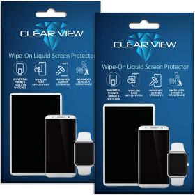 2 Pack ClearView Liquid Glass Screen Protector for All Smartphones Tablets and Watches