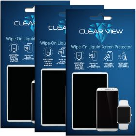 3 Pack ClearView Liquid Glass Screen Protector for All Smartphones Tablets and Watches