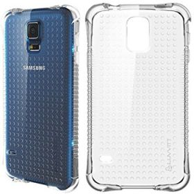LUVVITT CLEAR GRIP Samsung Galaxy S5 Case | Soft Transparent TPU Case - Clear