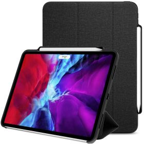 LUVVITT iPad Pro 11 Case Front and Back Cover with Wireless Pencil Holder 2020
