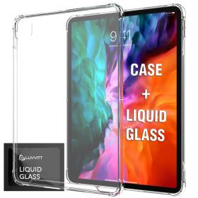 iPad Pro 12.9 Case 2020 Luvvitt Clear View Case and Liquid Glass Screen Protector