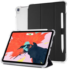LUVVITT iPad Pro 12.9 Case Front and Back Cover 2018 - Black