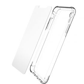 Luvvitt Crystal View Case and Tempered Glass  Set for iPhone XR - 6.1 inch 2018
