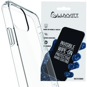 Luvvitt $250 Warranty CLEAR VIEW Case + Liquid Glass Screen Protector Bundle for iPhone 11 2019