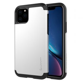 Luvvitt Ultra Armor Dual Layer Heavy Duty Case for iPhone 11 Pro Max 2019 - Silver
