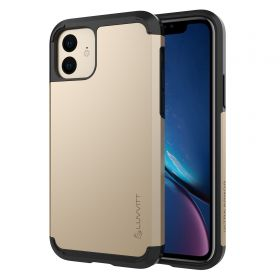 Luvvitt Ultra Armor Dual Layer Heavy Duty Case for iPhone 11 2019 - Gold