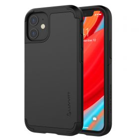 Luvvitt Ultra Armor Dual Layer Heavy Duty Case for Apple iPhone 12 Mini - Black