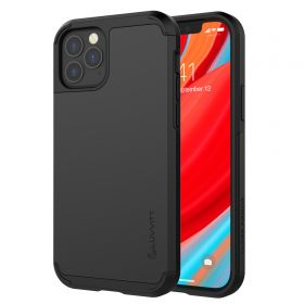 Luvvitt Ultra Armor Heavy Duty Case for iPhone 12 and iPhone 12 Pro - Black