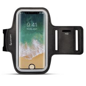 Luvvitt Armband for iPhone 8 Case Compatible Sports Band with Key Holder - Black