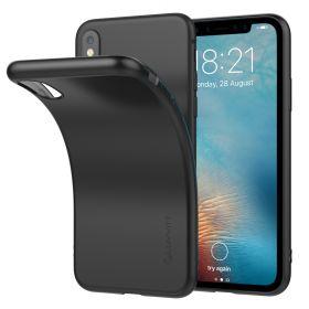 Luvvitt Ultra Slim Case for iPhone XS / X Flexible Soft Feel Cover - Matte Black
