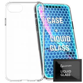 Clear Case and Liquid Glass Screen Protector for iPhone SE 2020