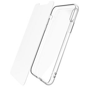 Luvvitt Clarity Case and Tempered Glass Screen Protector for iPhone XS Max 6.5 inch Clear