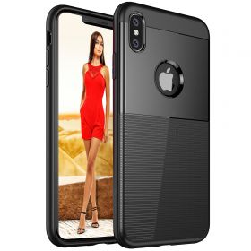 Luvvitt iPhone XS Max Case Sleek Armor Cover for 6.5 inch Screen 2018 - Black