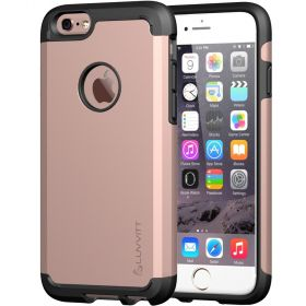 LUVVITT ULTRA ARMOR iPhone 6/6s PLUS Case | Back Cover for iPhone 5.5 in - Rose Gold