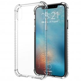 Luvvitt Clear Grip Flexible Slim Shock Proof TPU Case for iPhone XS / X - Clear