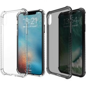 Luvvitt Clear Grip Flexible Slim Shock Proof Rubber Case for Apple iPhone XS / X