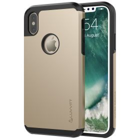 Luvvitt Ultra Armor Dual Layer Case for iPhone XS / X 5.8 inch 2017-2018 - Gold