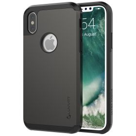 Luvvitt Ultra Armor Dual Layer Case iPhone XS / X 5.8 inch 2017-2018 Gunmetal