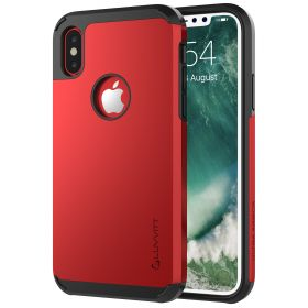 Luvvitt Ultra Armor Dual Layer Case for iPhone XS / X 5.8 inch 2017-2018 - Red