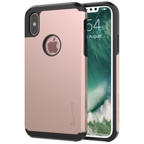 Luvvitt Ultra Armor Dual Layer Case for iPhone XS / X 5.8 2017-2018 - Rose Gold