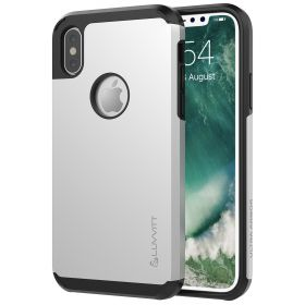 Luvvitt Ultra Armor Dual Layer Case for iPhone XS / X 5.8 inch 2017-2018 Silver