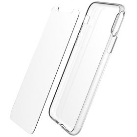 Luvvitt iPhone XS Max Case and Tempered Glass Set Clarity for 6.5 inch 2018