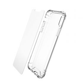 Luvvitt Clear View Case and Tempered Glass Set for iPhone XS Max 6.5 inch 2018