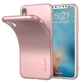 Luvvitt Ultra Slim Case for iPhone X Flexible Soft Feel TPU Cover - Rose Gold