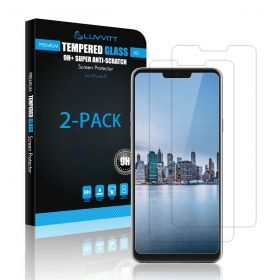 LUVVITT TEMPERED GLASS Screen Protector for LG G7 ThinQ Case Friendly - 2 Pack