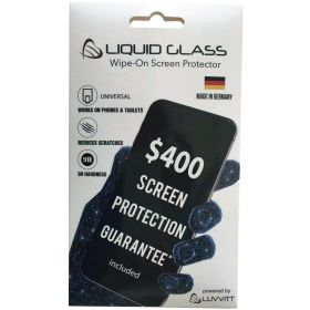 Liquid Glass Screen Protector with $400 Warranty for iPhone iPad Samsung and All