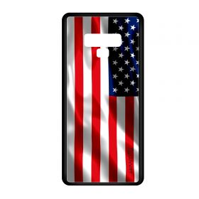 Note 9 Case GLASS Back USA American Flag Back Cover - US United States of America