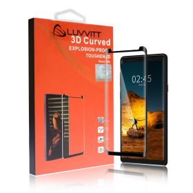 LUVVITT Tempered Glass Screen Protector Full Adhesive for Galaxy Note 9 - Black