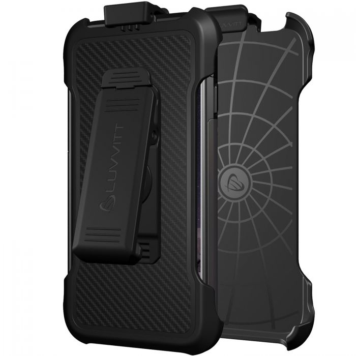 competitive price bfd1c b79e4 LUVVITT HOLSTER for ULTRA ARMOR iPhone 6/6s Case with Swiveling Clip and  Stand - Black