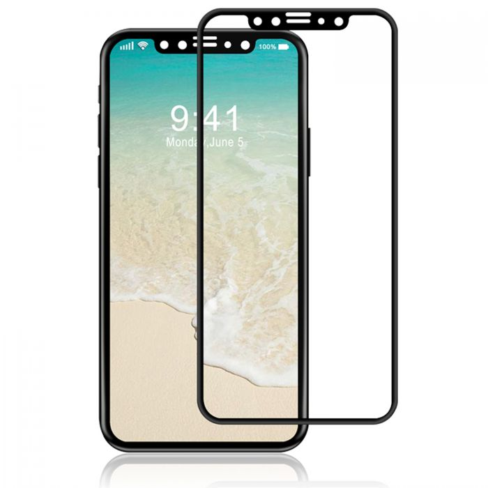 new concept 44df7 8e8d2 Luvvitt Tempered Glass Screen Protector 3D Curved for iPhone XS / X